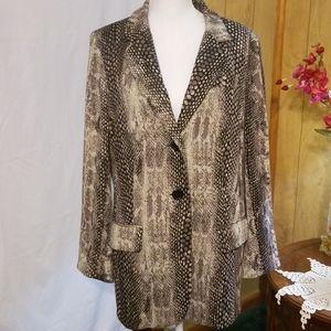 Chico's Snake Print Coat/Jacket